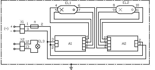 А1, А2 – аппараты электронные